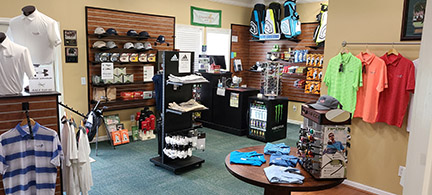 Interior shot of the pro shop at Collins Hill Golf Club
